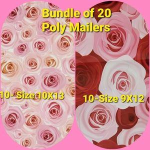 Bundle 20 Rose Poly Mailers Value Pack